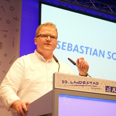 JU-Landeschef Sebastian Sommer