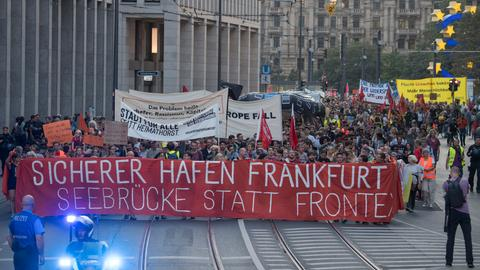 Seebrücke-Demonstration in Frankfurt (Archiv)