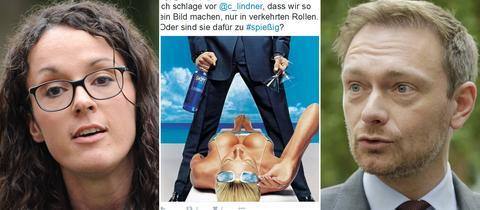 Grünen-Fraktionsgeschäftsführerin Dorn, sexistische Werbung, FDP-Chef Lindner