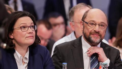 SPD Parteitag Bonn Nahles Schulz