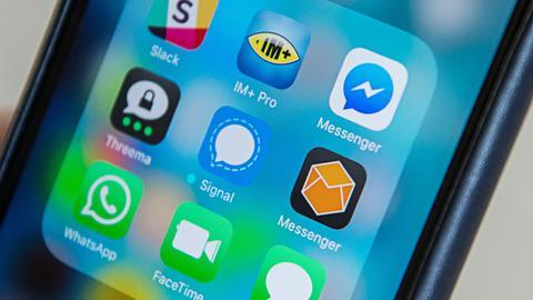 Messenger-Dienste auf Mobiltelefon