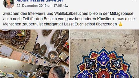 Frankfurter CDU-Stadträtin Albina Nazarenus-Vetter in Usbekistan - Facebook-Post