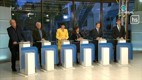 Politiker bei der TV-Debatte zur Europawahl