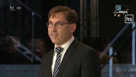 Thorsten Lieb (FDP) bei der TV-Debatte zur Europawahl