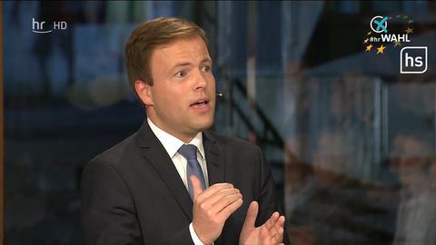 Sven Simon (CDU) bei der TV-Debatte zur Europawahl