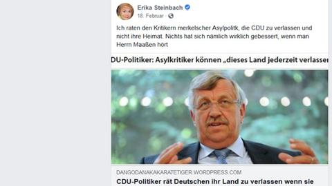 Steinbach-Post bei Facebook