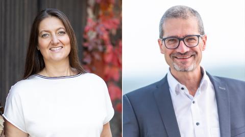 Die beiden Kandidaten in der Stichwahl um das Bürgermeisteramt in Herborn