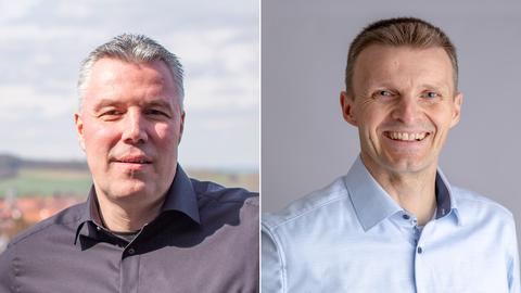 Die beiden Kandidaten in der Stichwahl um das Bürgermeisteramt in Breuna