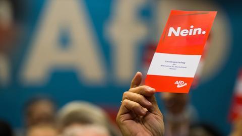 Stimmzettel auf dem AfD-Parteitag in Gießen