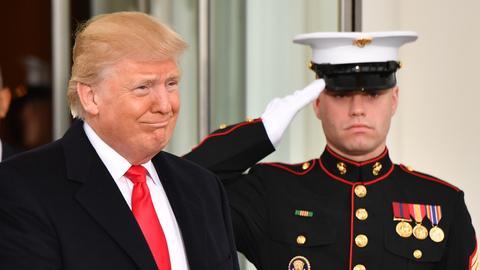 Donald Trump bei der Amtseinführung zum US-Präsidenten