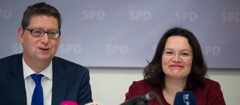 Thorsten Schäfer-Gümbel und Andrea Nahles (Archivbild)