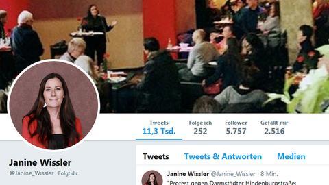 Twitterprofil Janine Wissler