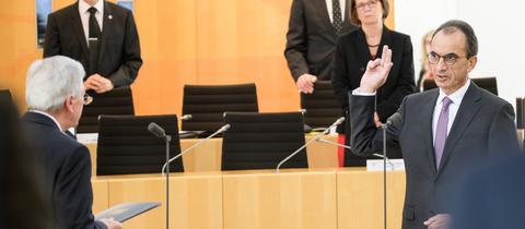 Vereidigung von Michael Boddenberg als Finanzminister am 03.04.2020