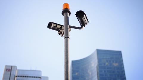 Videoüberwachung an der Gallusanlage in Frankfurt