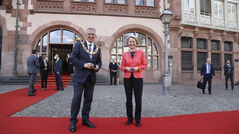 Ursula von der Leyen und Peter Feldmann