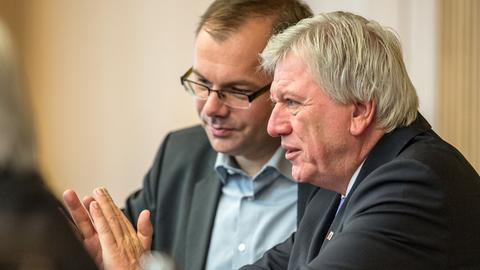 Mathias Wagner, Volker Bouffier (r.)