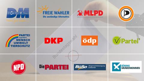 Logos der Kleinen Parteien