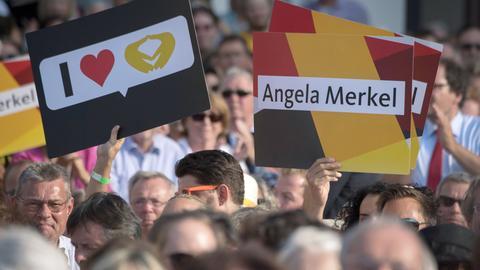 CDU-Plakate bei einer Veranstaltung in Gelnhausen.