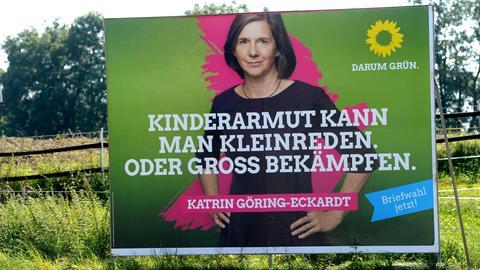 Wahlplakat der Grünen zur Bundestagswahl