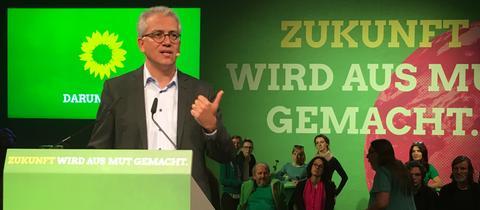 Tarek Al-Wazir beim Grünen-Wahlkampf in Darmstadt