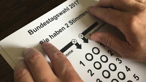 Wahlschablone für die Bundestagswahl 2017