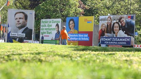Wahlplakate in Hessen