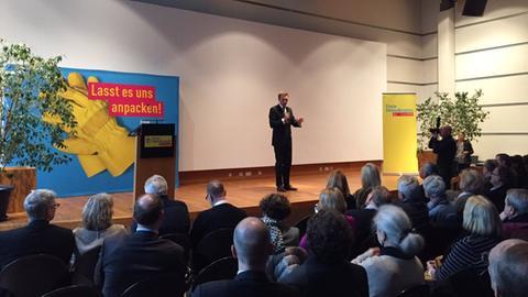 Christian Lindner in Wiesbaden Kommunalwahl