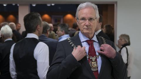 Eschborns Bürgermeister Mathias Geiger (FDP) im Januar 2015