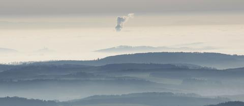 Blick auf den Vogelsberg, das größte zusammenhängende Vulkangebiet Europas