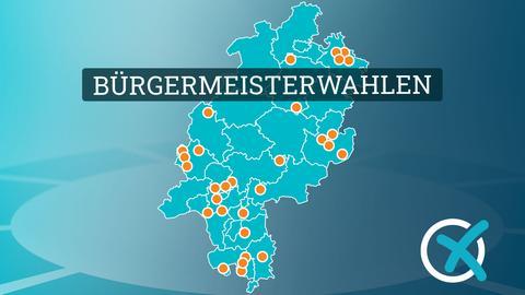 Hessenkarte mit 30 Gemeindepunkten
