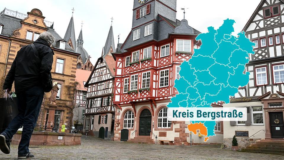 Marktplatz Heppenheim mit Fachwerkhäusern