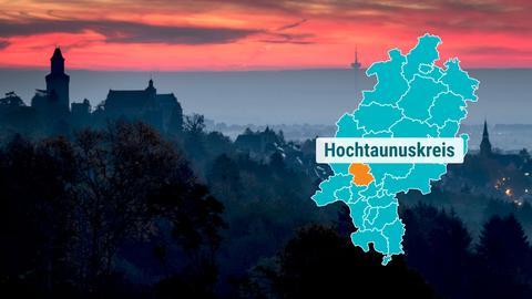 Morgenhimmel Burganlage Kronberg im Taunus