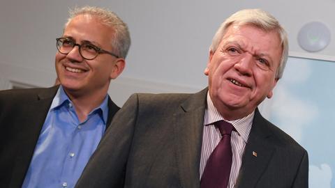 Tarek Al-Wazir und Volker Bouffier.