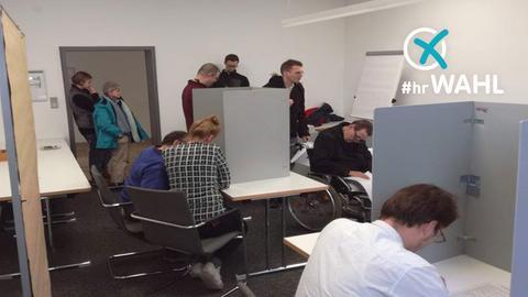 Landtagswahl-Test in Frankfurt