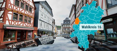 Die Altstadt in Dillenburg.