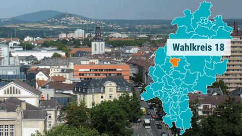 Blick auf die Stadt Gießen.