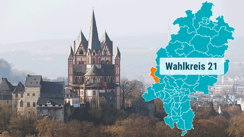 Blick auf den Dom in Limburg.