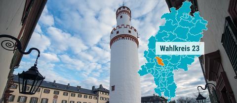 Der Weiße Turm in Bad Homburg.