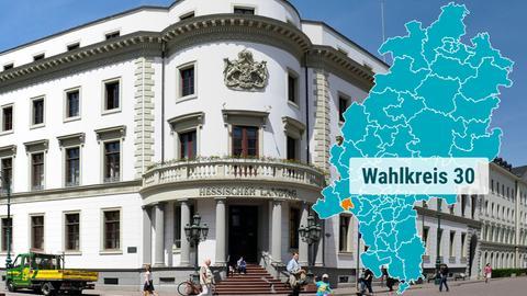 Das Wiesbadener Stadtschloss beherbergt den Hessischen Landtag.