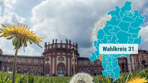 Das Biebricher Schloss in Wiesbaden.