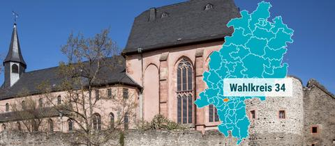 Die Justinuskirche in Frankfurt Höchst.