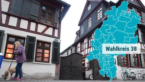 Altstadt im Frankfurter Stadtteil Bornheim.