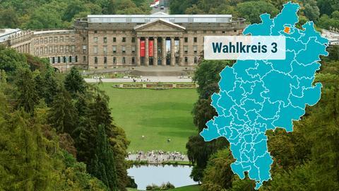Foto von Schloss Wilhelmshöhe und Bergpark in Kassel.