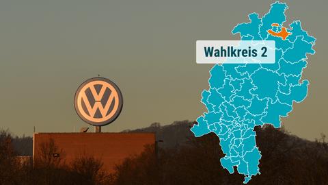 Foto des VW-Werks in Baunatal in der Abendsonne
