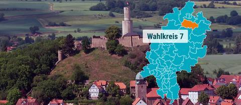 Die Felsburg in Felsberg.