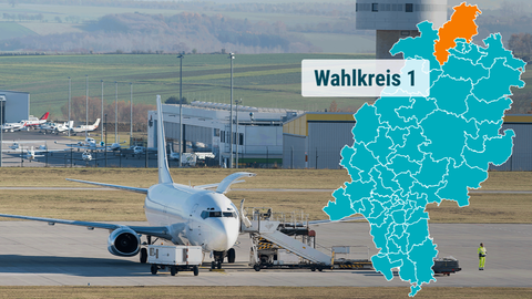 Der Kassel Airport in Calden.