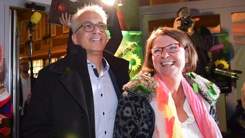 Priska Hinz und Tarek Al-Wazir