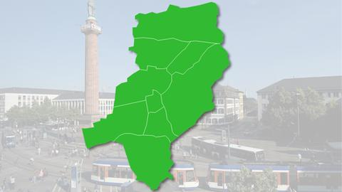 OB-Wahl Darmstadt Karte