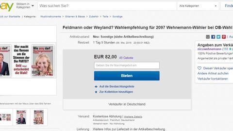 Ebay Wahlempfehlung