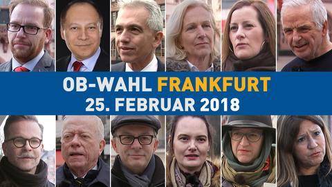 OB-Wahl Frankfurt Kandidaten Collage